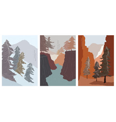 art landscape background with wooden pattern vector image