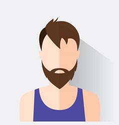 avatar man in modern flat design vector image