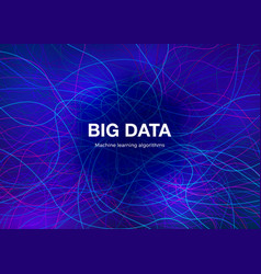 big data visualisation concept abstract vector image