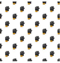 Black soccer gloves pattern vector
