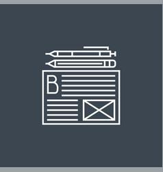 Blogging services icon vector