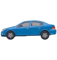 Blue sedan car vector