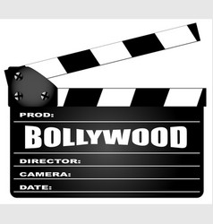 bollywood clapperboard vector image