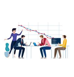 Burn-down chart scheme agile methodology vector