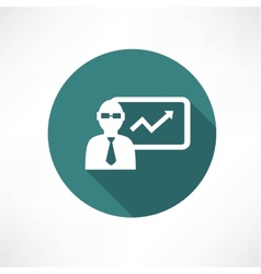 Businessman with graph icon vector image
