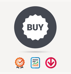 buy icon online shopping star sign vector image