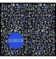 Celebration happy birthday vector image