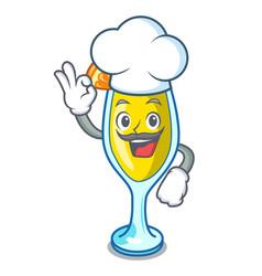 Chef mimosa character cartoon style vector
