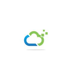 Cloud technology digital logo vector