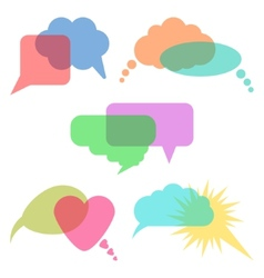 concept of communication transparent speech vector image