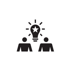 creative idea concept icon people communic vector image