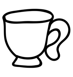 Cute afternoon tea tea cup clipart hand drawn vector