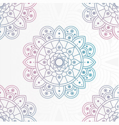 Decorative floral mandala with white background vector
