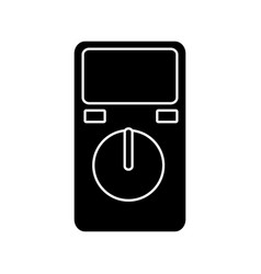 Electric test meter device icon vector