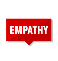 Empathy red tag vector