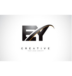 Ey e y swoosh letter logo design with modern vector