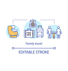 family travel concept icon vector image