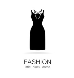 fashion little black dress template vector image