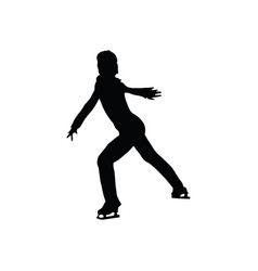 figure skate man silhouette vector image