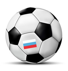 football or soccer ball with russia flag vector image