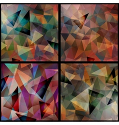Geometric triangle patterns set vector image