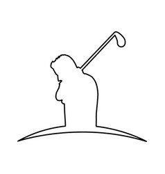 golf player silhouette icon vector image