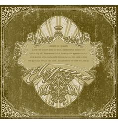 Grunge vintage label vector