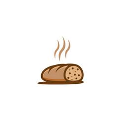 half bread hot sliced creative logo design vector image
