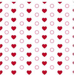 Hearts seamless pattern modern stylish texture vector