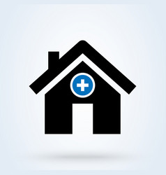 Hospital icon medical sign health center icon vector