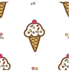 icecream pattern 2 vector image