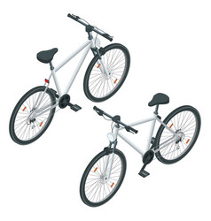isometric new bicycle isolated on a white vector image