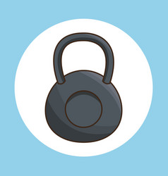 kettlebell exercise gym sport vector image
