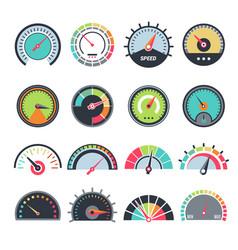 Level measure symbols speedometer gauge vector