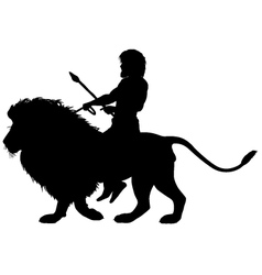 Lion rider vector image