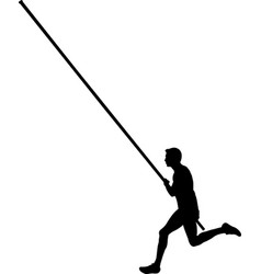 male athlete pole vaulting vector image