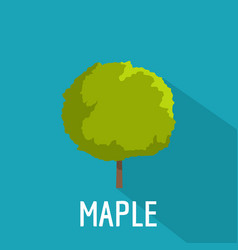 maple tree icon flat style vector image