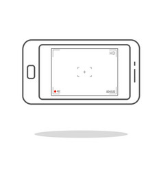 modern smartphone with camera application user vector image
