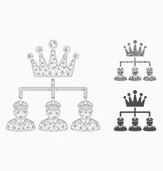 monarchy structure mesh wire frame model vector image