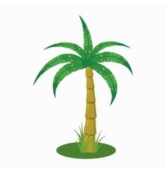 Palm tree icon cartoon style vector