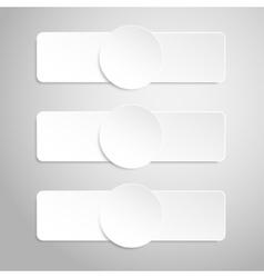 Paper banner mockup rectangle circle vector