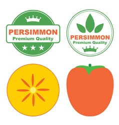 Persimmon vector image