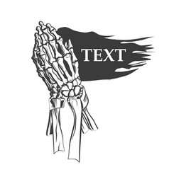 praying skeleton hands vector image