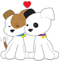 Puppy Couple vector image vector image