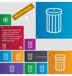 Recycle bin sign icon Symbol Set of colored vector
