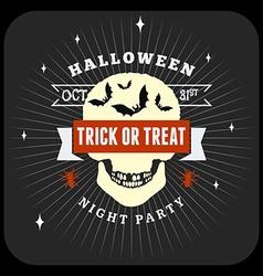 Retro Happy Halloween Badge Sticker Label Design vector