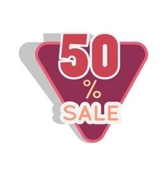 Sale Sticker in Flat Design vector