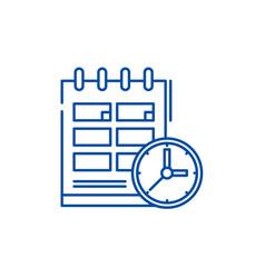schedule line icon concept schedule flat vector image
