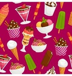 Seamless pattern with icecream Cartoon vector image