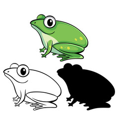 Set frog cartoon vector